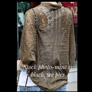 New Crocheted Black Shrug Vest Cover Up OSFM